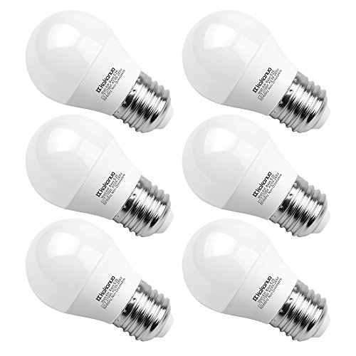 A15 LED Bulb 60 Watts, Kakanuo 6 Watt Equivalent E26 Medium Screw Base, A15/G45 Warm White 2700K, 600 Lumens A15 LED Light Bulb for Home Lighting Decorative, Non-Dimmable (Pack of 6)