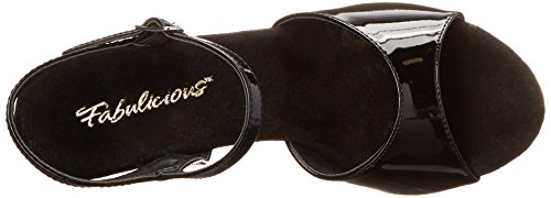 Sandal Women's M US Platform Cocktail 509 13 Black Fabulicious qawCx6q