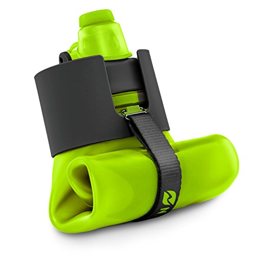 Nomader BPA Free Collapsible Sports Water Bottle - Foldable with Reusable Leak Proof Twist Cap for Gym Travel Hiking Camping and Outdoors - 22 oz (Lime)