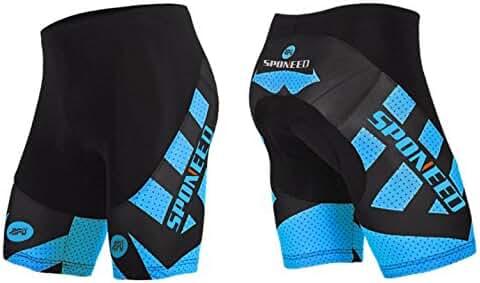 Sponeed Men's Cycling Shorts Tights Pants Bicycle 4D Gel Padded Bike Shorts