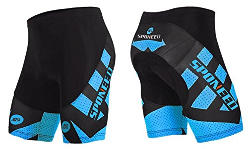 Men's Cycling Compression Shorts Bike Tights Pants 4D COOLMAX Padded Asian XL/ US L Blue