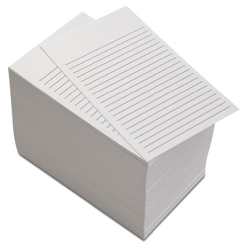 Non Personalized Notepads - Levenger 300 Non-Personalized 3x5 Cards - White Ruled (ADS6780 RL)