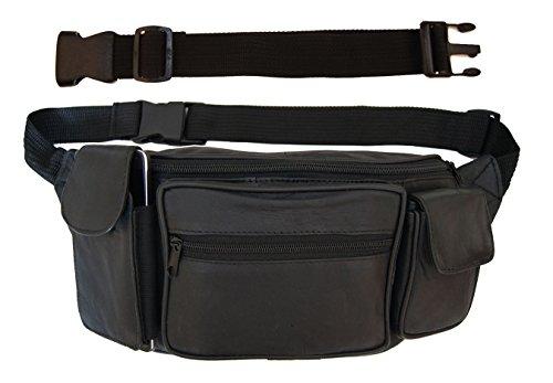 Large Leather Fanny Pack Mens Waist Belt Bag Womens Purse Hi