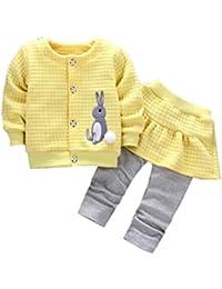 2Pcs Infant Toddler Baby Girls Rabbit Print Tops...