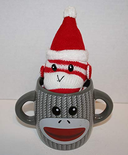 (Sock Monkey with Sock Monkey Santa Mini Plush 4