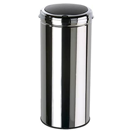 Touch Bin 45 Liter.Hand Touch Bin 45 L Stainless Steel Amazon Co Uk Kitchen Home
