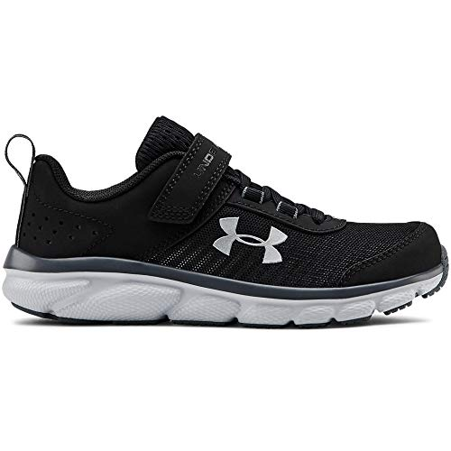 Under Armour Kids' Pre School Assert 8 Alternate Closure Sneaker, Black (001)/Pitch Gray, 3