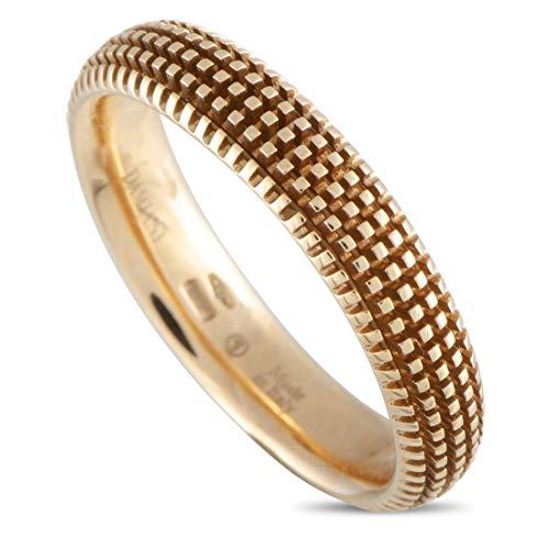 Damiani Metropolitan 18K Rose Gold Diamond Textured Band Ring