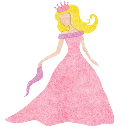 Princess Decal Sticker for Princess Room Decor (Blonde Hair/Fair Skin) ()