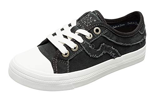Women Adults Canvas Fashion Sneakers Low Top Lace Up Lightweight Flat Breathable Casual Shoes Black