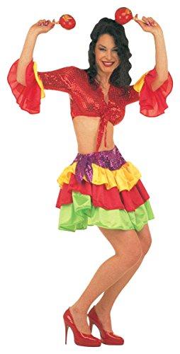 Brasileiro Costume (Ladies Brasileira Costume Large Uk 14-16 For Clown Fancy)