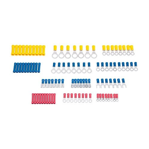 Gardner Bender TK-806 Terminal Assortment Includes Ring and spade terminals, butt splices, male and female disconnects, 22-10 AWG, 100-Piece ()
