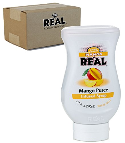 Mango Reàl, Mango Puree Infused Syrup, 16.9 FL OZ Squeezable Bottle (Pack of 1) -
