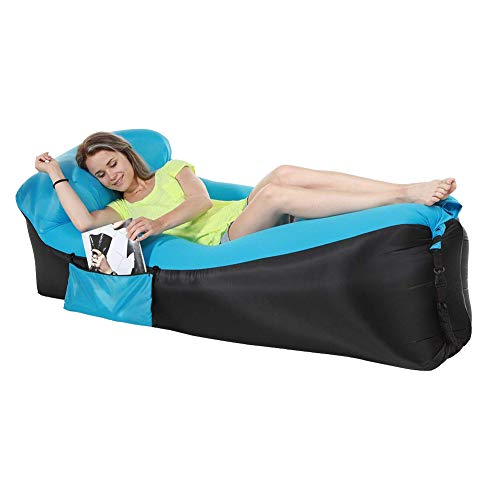 Quickcity 2018 Upgrade Inflatable Couch Lounger Hammock Bed Outdoor Adults,Easy Filling Air Not Leaking Air Chair Carry Bag,Portable & Lightweight Inflatable Sofa Air Mattress