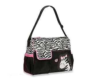 Mochilas de Bebé Bolsa De Pañales Cambiar Pañal Bolso Multifunctional para madre -Patrón Giraffe Negro