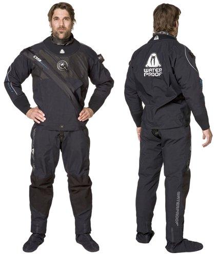 Waterproof D9 Breathable atmungsaktiver Quad-Laminat Trockentauchanzug mit Fronteinstieg (Herren XL)