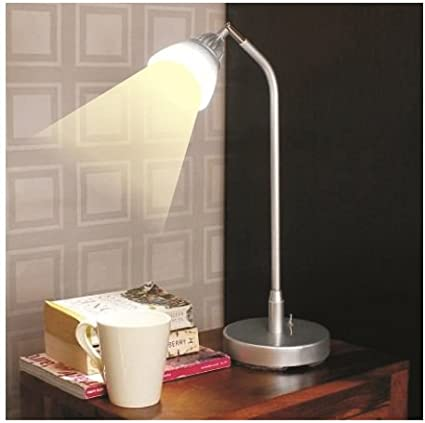 LED Desk Light - Enlighten - Neutral White Light - Silver- Plastic Shade Desk Lights at amazon
