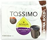 Gevalia Dark House Blend Coffee - Extra Bold - T Discs for Tassimo Brewers 12 Count