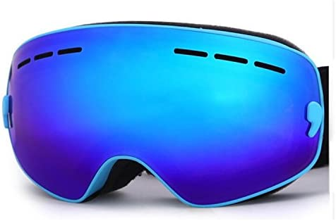 Hicool Kids Ski Snow Skate Snowboard Snowmobile Goggle with Mirrored Lens – Anti-Fog UV Protection Detachable Wide Spherical Goggle Lens
