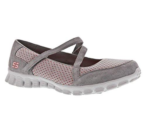 Skechers Ez Flex 2 - A-Game - Zapatillas de deporte para mujer, color gris, talla 37,5