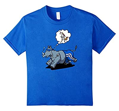Unicorn And Rhino Funny Running Motivation Cartoon T-Shirt