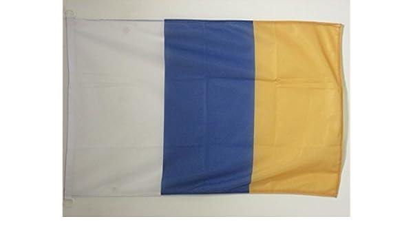 AZ FLAG Bandera de CANARIAS SIN Armas 90x60cm Uso Exterior - Bandera Canaria 60 x 90 cm Anillos: Amazon.es: Jardín