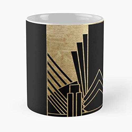 Texture Faux Wallpaper Book - Gold Golden Faux Foil - Ceramic Novelty Cup Best Gift For Father Day