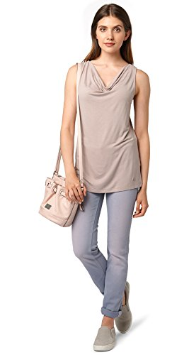 TOM TAILOR Top Mujer gris beis
