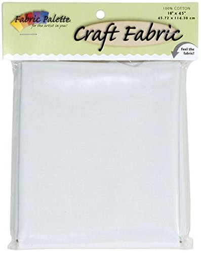Fabric Editions Craft Fabric, 18 by 45-Inch, White -