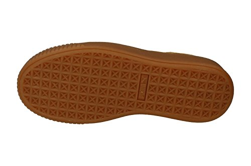 Puma Suède Platform Fl Womens Sneakers 364718 Sneakers Schoenen Havermout Goud 01