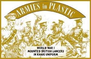(WWI British Lancers in Khaki Uniform (5 Mounted) 1/32 Armies in Plastic)