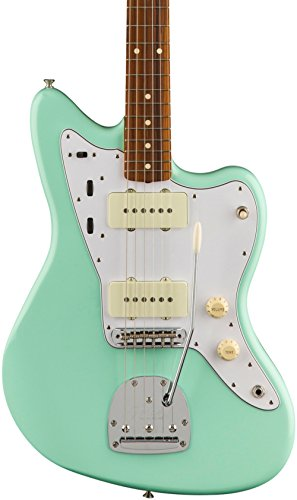 Fender 6 String Solid-Body Electric Guitar, Surf Green (141213757)