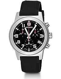 Field Chrono Large Swiss Quartz Men's Watch, Silicone Strap, Black