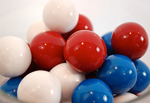 Red, White, and Blue 1 Inch Gumballs (3 Pound)