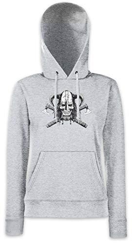 Capucha Con Mujer Para Hoodie Sudadera Viking Skull Vi wqWXfS6O