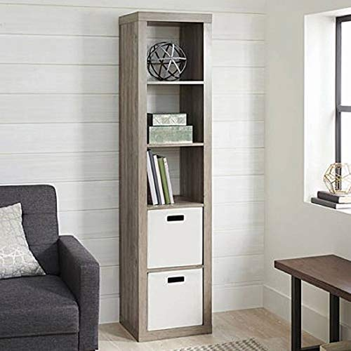 Better Homes and Gardens.. Bookshelf Square Storage Cabinet 4-Cube Organizer (Weathered) (White, 4-Cube) (Rustic Gray, 5-Cube Horizontal/Vertical) from Better Homes and Gardens..