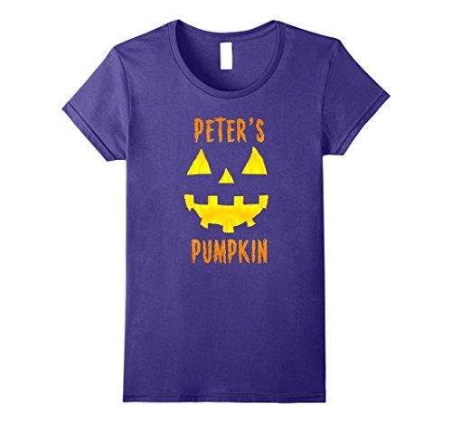 Womens Couples Halloween Costume Ideas Peter's Pumpkin T-Shirt Medium Purple