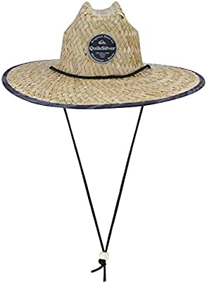 793d8fb76ef Quiksilver Mens Outsider Repent Straw Lifeguard Hat. Quiksilver Men's  Outsider Repent Black ...