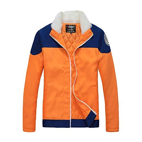 - HOLRAN Naruto Uzumaki Naruto Cosplay Costume Thick Jacket Hoodie (Small) (Large, Orange)