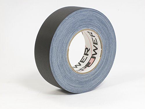 Real Premium Grade Gaffer Tape Plus by Gaffer Power - Made in The USA - Black 2 in X 55 Yds 11.5 mils - Heavy Duty Gaffer's Tape - Non-Reflective - Waterproof - Multipurpose - Better Than Duct Tape!