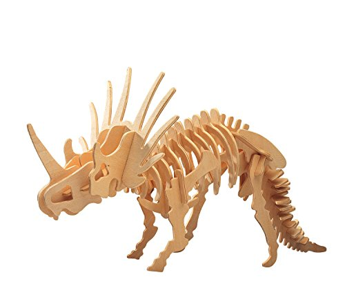 (Puzzled 1234 1234 3D Styracosaurus, Wood, One Size)
