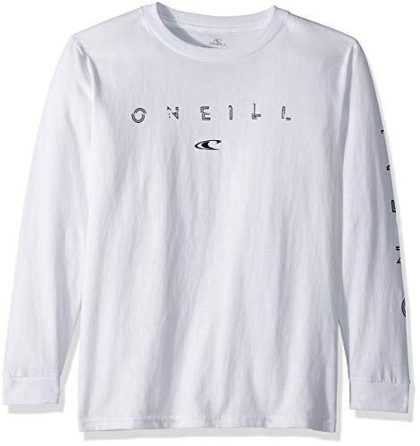 (O'Neill Boys' Big' Premium Fit Logo Long Sleeve T-Shirt, Spaced Out White, S )