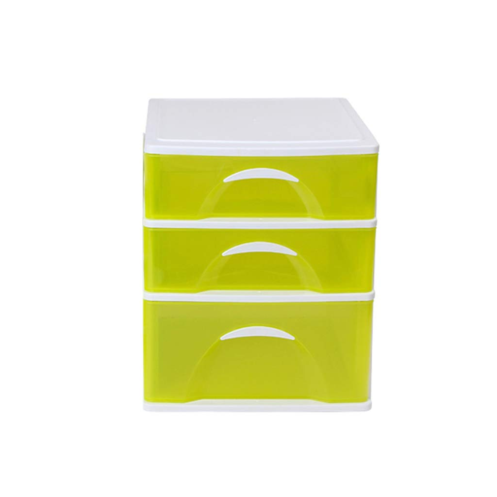 LCSHAN Desktop File Cabinet Extra Large Transparent Drawer Plastic Finishing Cabinet Office File Storage Box (Color : A Style) by File Shelf