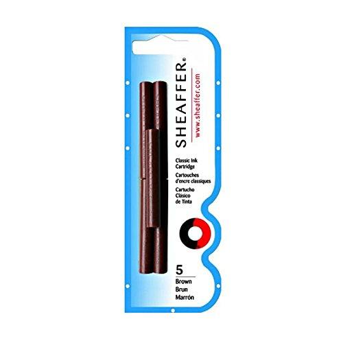 SHEAFFER PEN Skrip 5 Ink Cartridges Brown