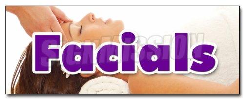 24'' FACIALS DECAL sticker spa beauty shop massage manicure pedicure