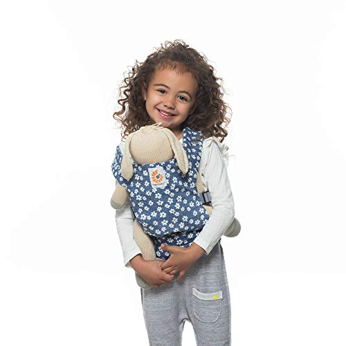 Ergobaby Toy Doll Carrier, Blue Daisies