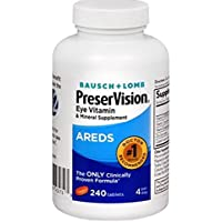 PreserVision 240-Count AREDS Eye Vitamin & Mineral Supplement Tablets