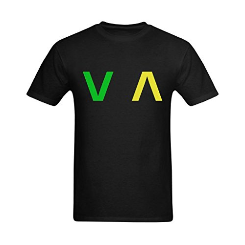 definite-myself-mens-rvca-green-and-yellow-art-design-t-shirt-cool-t-shirts-us-size-medium