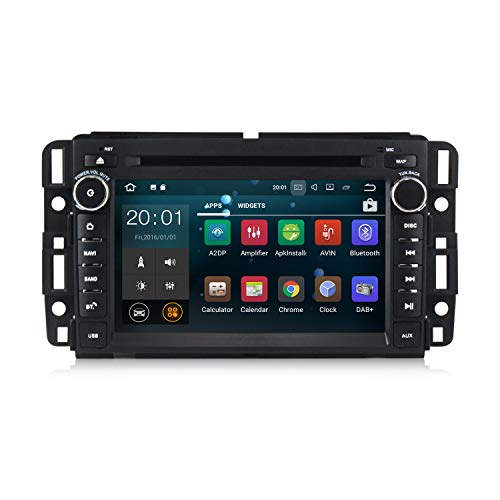 Android 8.1 Car Stereo 7 inch DVD Player for GMC Chevy Silverado 1500 2012 Quad Core Double Din in Dash Touchscreen FM/AM Radio Receiver Navigation with Rear View Camera by MekedeTech (Image #2)