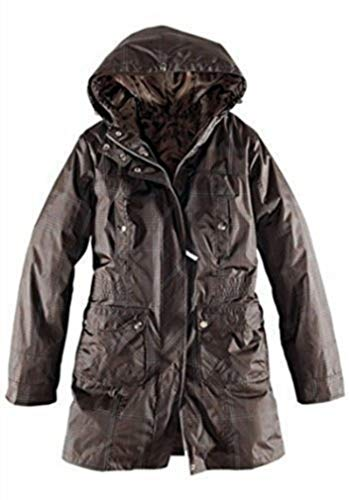 Parka Manteau Carreaux À Marron Elho BOAY1wqB